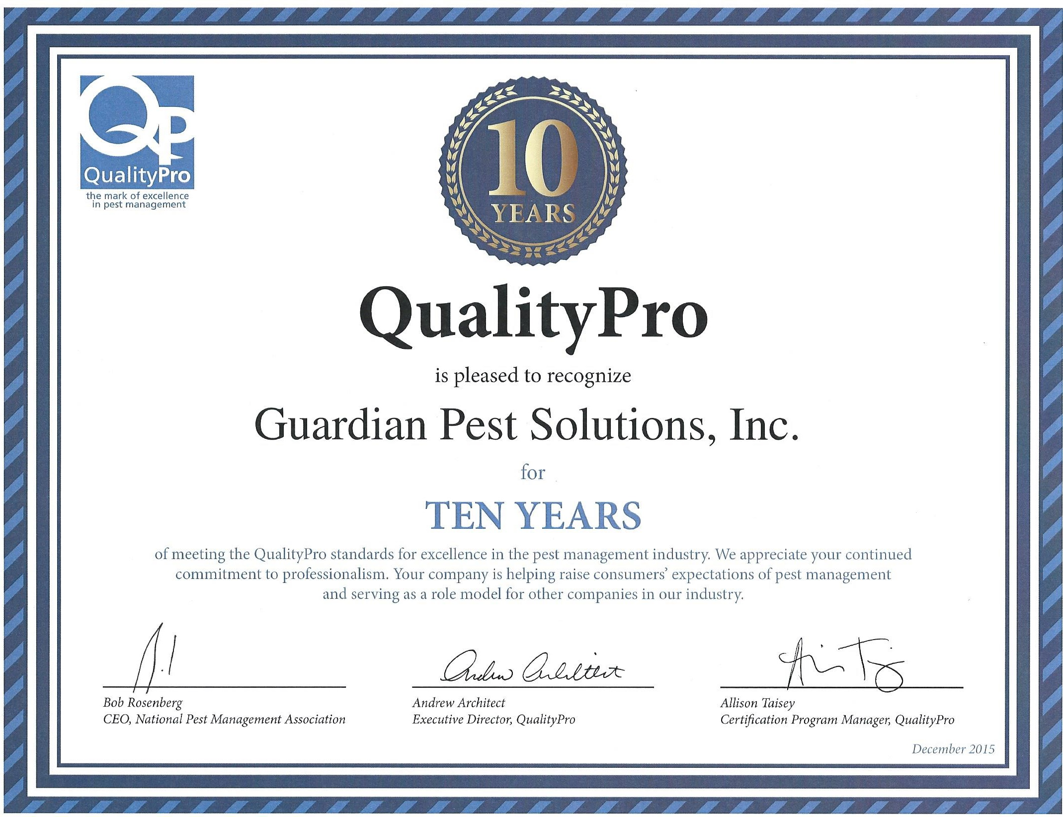 Why Our Pest Control Company Guardian Pest Solutions